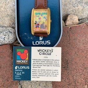 Retired Mickey's Circus Lorus Watch